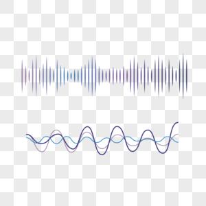 科技感渐变光波声波韵律元素图片