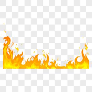 金黄燃烧火焰效果图片