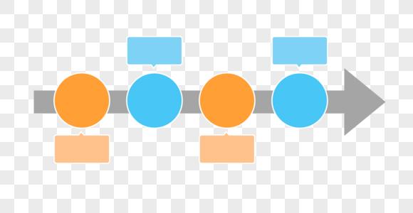 简单流程及标注图表背景图片