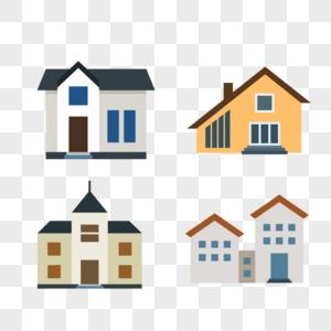 房子建筑矢量图标插画图片