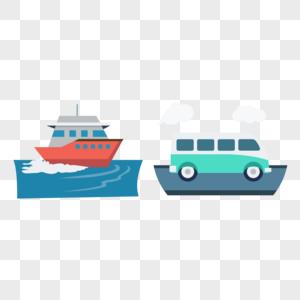 轮船矢量图标图片
