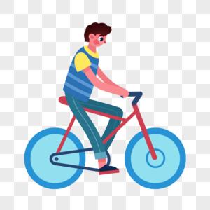骑自行车人物图片
