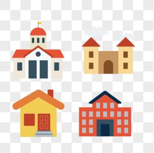 房子建筑矢量图标图片
