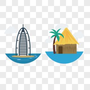 海上建筑矢量图标图片