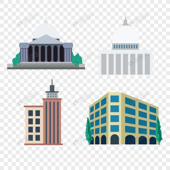房子建筑矢量元素图片