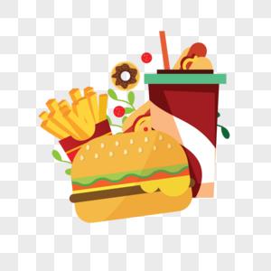 汉堡薯条可乐图片