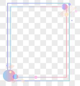 科技感线条边框图片
