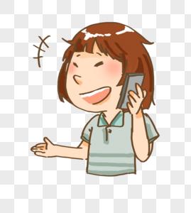 打电话的人图片