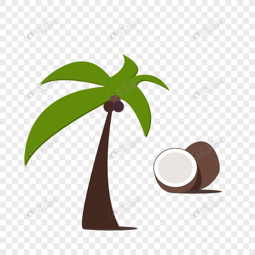 椰子树和元素椰子素材psd格式_设计素材汕头v元素平面设计图片