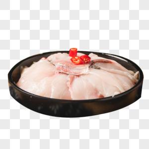 新鲜财鱼片图片