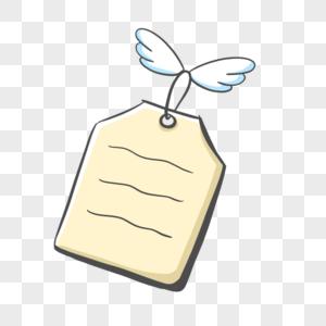 手绘翅膀标签边框图片