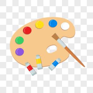 绘画调色盘图片