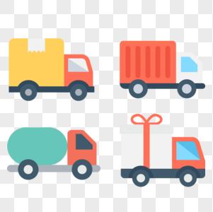 车辆货车图标免抠矢量插画素材图片