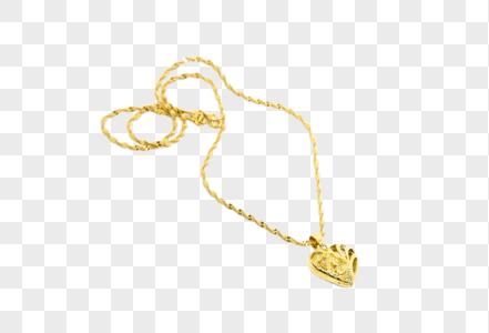 黄金结婚爱心项链首饰图片