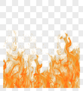 红色渐变火焰效果元素图片