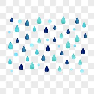蓝色雨滴图片