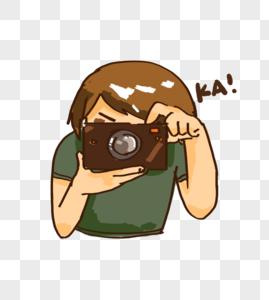 拍照的人图片
