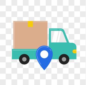 货车运输工具图标免抠矢量插画素材图片