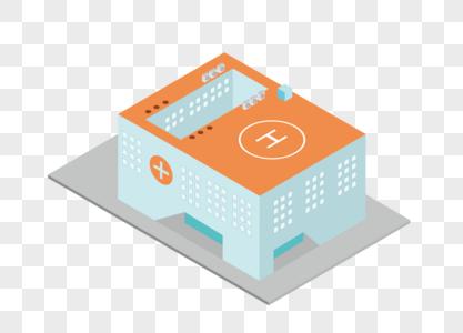 2.5D医院建筑图片