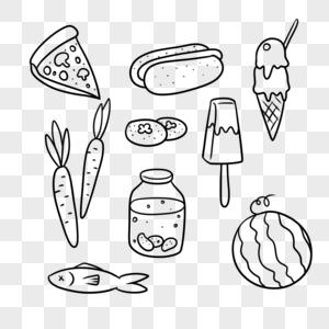 披萨热狗柿子冰淇淋胡萝卜冰棍泡菜西瓜鱼图片