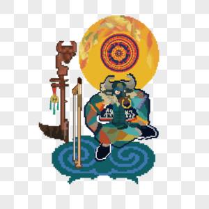 壮族祭田节神兽及其祭祀乐器图片