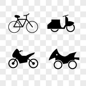单车摩托外卖车图片