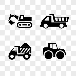 挖掘机砂石运输车建筑车图片
