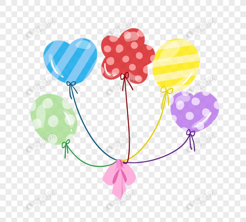 一捆气球图片