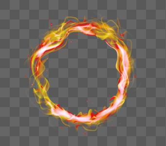 金色火焰圆环光效图片