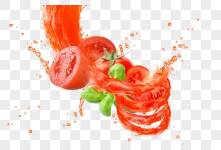 西红柿喷溅图片