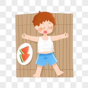 夏日睡午觉的童年图片