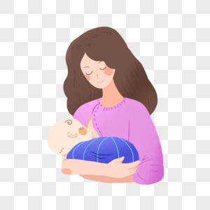 世界母乳喂养周正在喂奶的妈妈图片