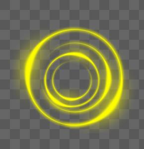 金黄色光圈效果元素图片