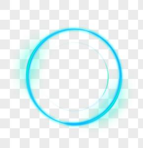 蓝色渐变光圈效果元素图片