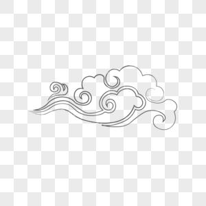 灰色祥云图片