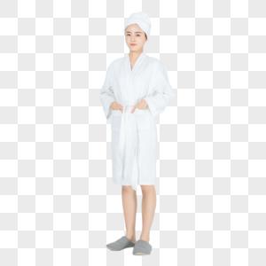 浴袍美女形象图片