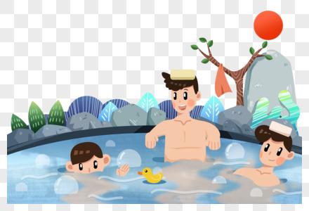 泡温泉图片