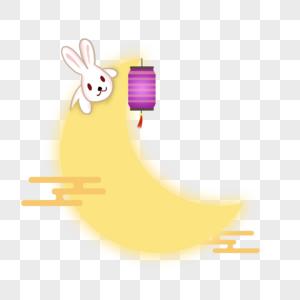 可爱兔子中秋灯笼图片