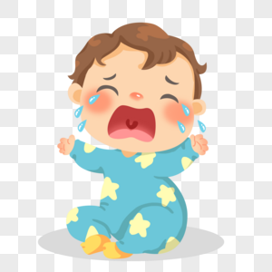手绘大哭的婴儿图片