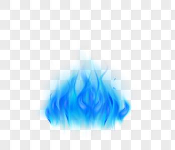 蓝色渐变魔法火焰图片