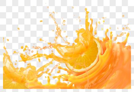 橙子喷溅图片