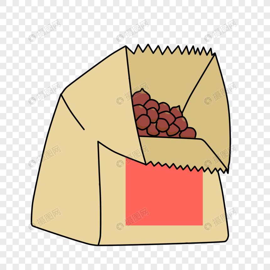 一袋糖炒栗子图片