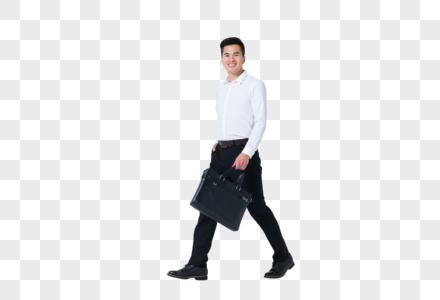 上班开心大步走商务男士图片