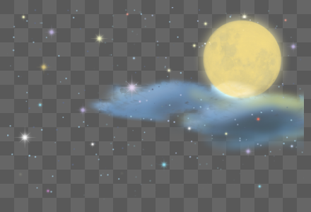 中秋月亮星空图片