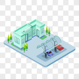 新能源汽车充电站建筑物图片