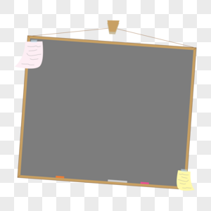 教师节卡通小黑板矢量对话框图片