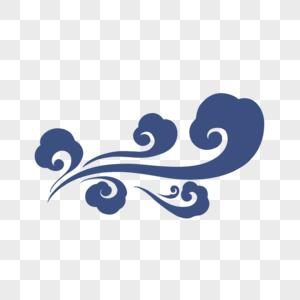 藏蓝色祥云图图片