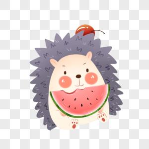 吃瓜的刺猬图片