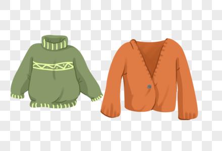 手绘秋天的毛衣图片
