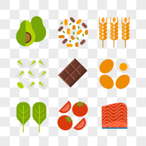 健康食物小图标图片